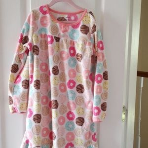 Carter's girls fleece nightgown sz 8/10